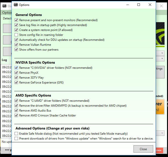 Uninstalling and Reinstalling Graphics drivers – Falcon